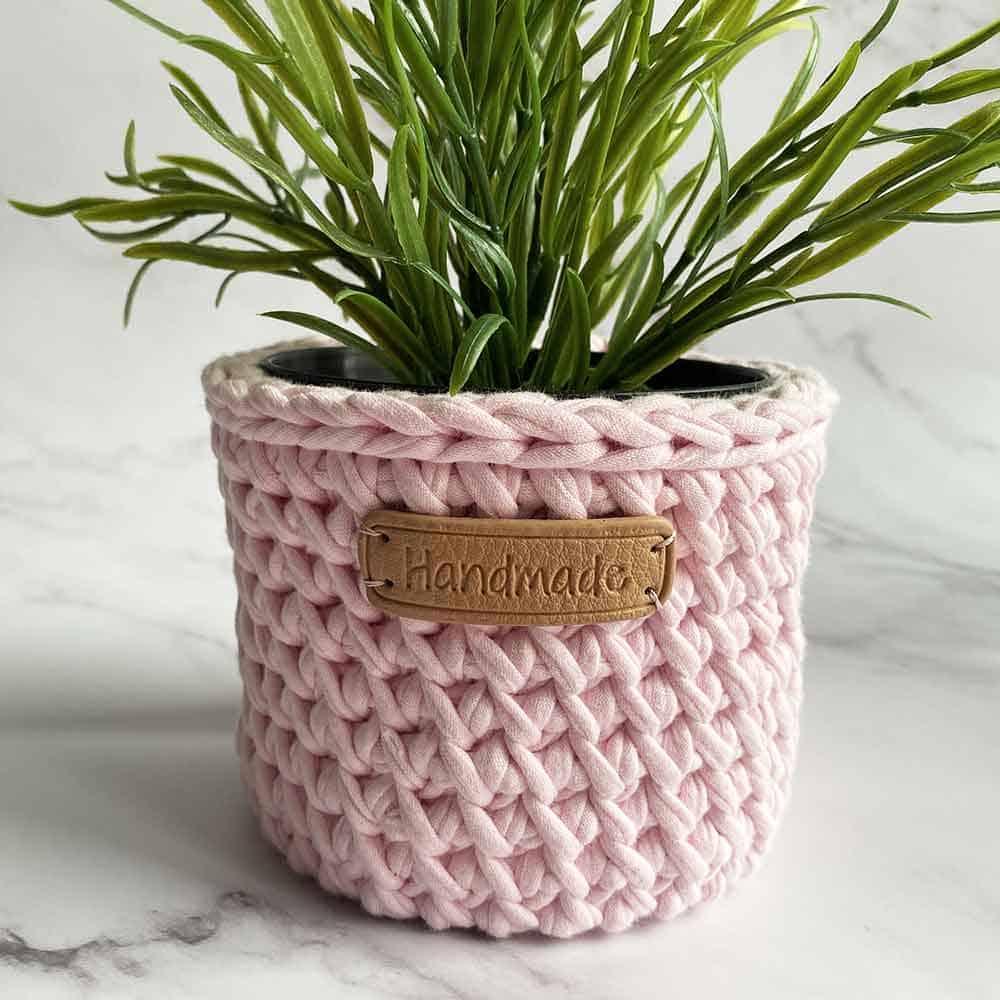 plantenmandje roze